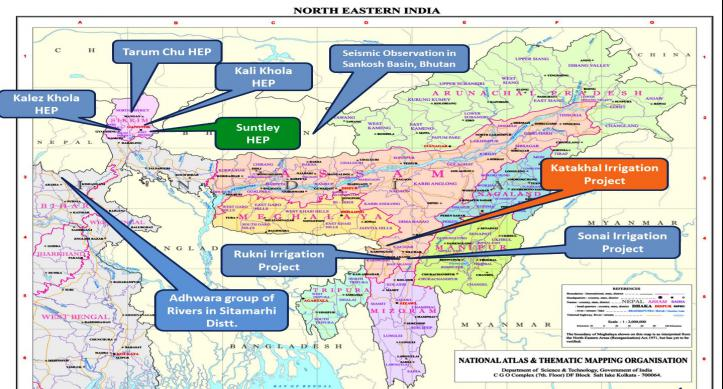 Some of the Survey and Investigation work undertaken by CWC in North East India